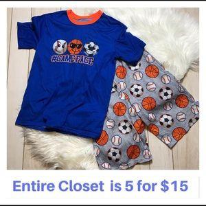 Boys Wonder Nation Pajamas Set XL